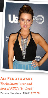 Description: Ali Fedotowsky - 'Bachelorette Star' and host of NBC's '1st Look' - Zabala Necklace $173.60