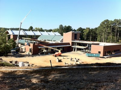 The CHPL under construction, from earlier this fall.  (Photo by Donnabeth Leffler.)