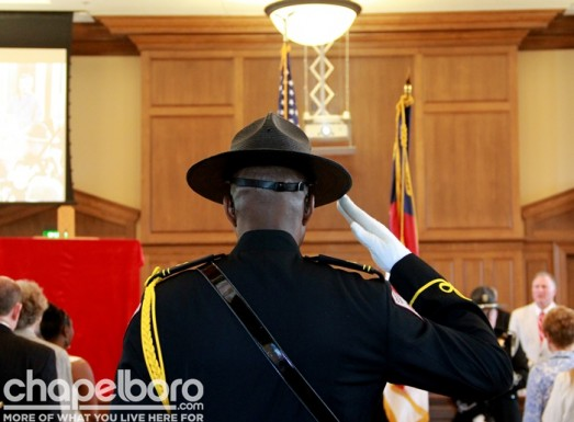 The Sheriff's Office Honor Guard was on hand for the Presentation of Colors-001