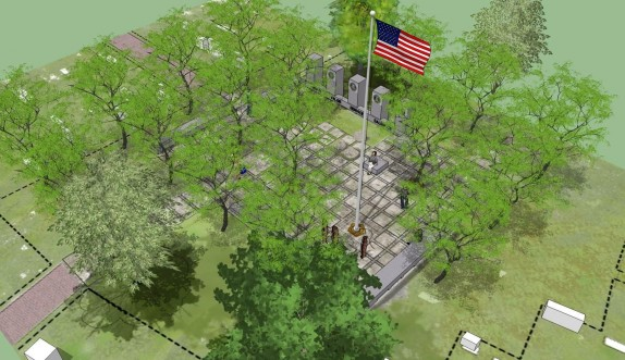 An artist's rendering of the proposed memorial.