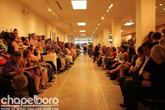There was a huge crowd at FRANK for the fashion show!