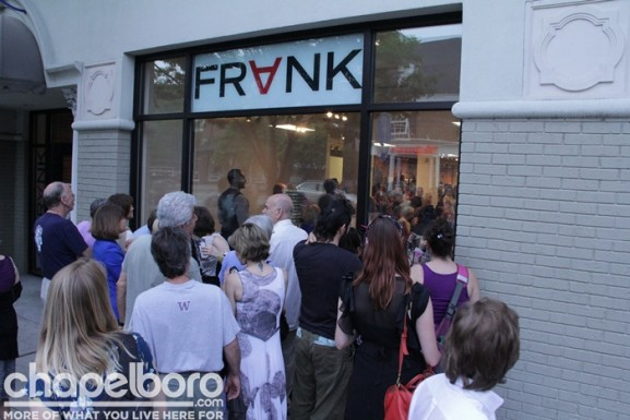 There were plenty of people outside FRANK too!