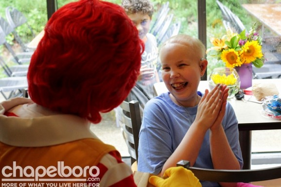 Kelsea Webster was all smiles, especially when Ronald was around!