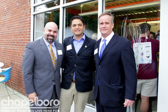 Aaron Nelson, Mayor Mark Kleinschmidt, Jim Kitchen