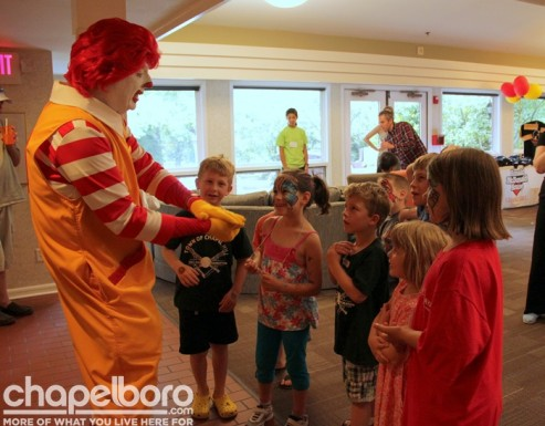 Ronald McDonald had lots of games for the kids!