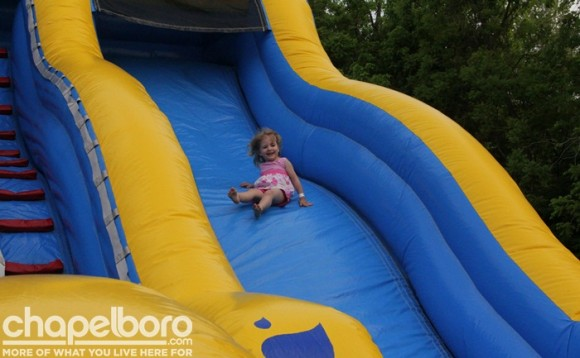 Isabella Nicole enjoyed the giant slide