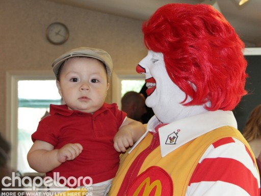 Julio Emmanuel with Ronald McDonald