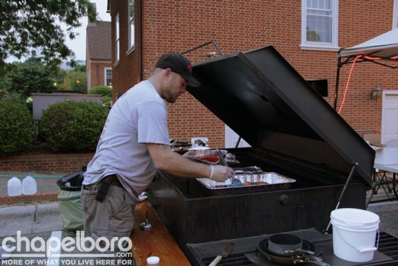 David Burch with Smokey Dave's BBQ was hard at work