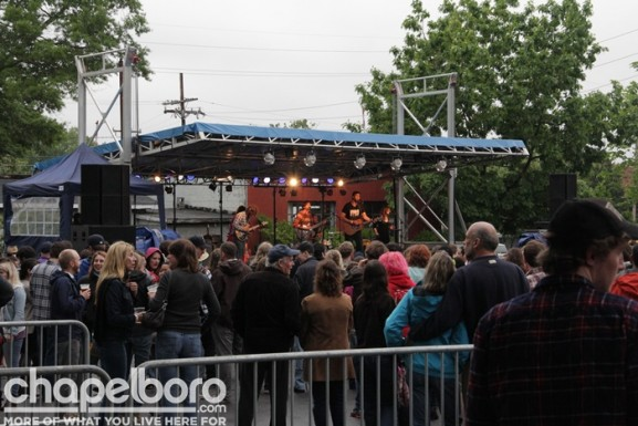 Even the rain couldn't stop the Carrboro Block Party