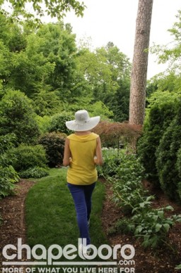 Penny Rand gives tours of her garden by appointment