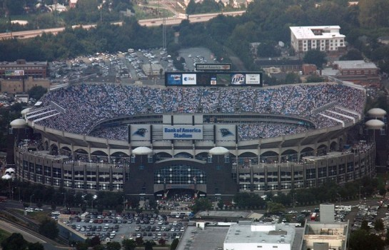 Bank of America Stadium (Photo by Capt. Wayne Capps, USAFR)