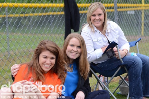 Taylor Cox, Gretchen Pegram, and Caitlyn Cook are enjoying the games!