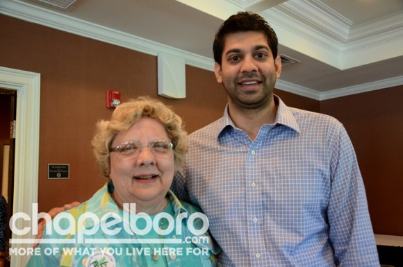Pat Evans and part owner of The Franklin Hotel, Jay Patel.