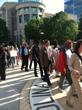 Moral Monday protest in Raleigh