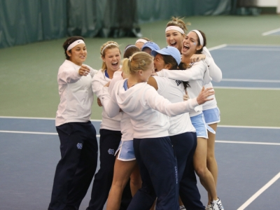 UNC winning ITA Indoor National Title in February. (Courtesy of GoHeels.com)