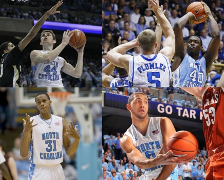 Tyler Zeller, Harrison Barnes, John Henson, and Kendall Marshall were drafted in 2012. (Photos courtesy of GoHeels.com)
