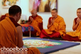 The Tibetan Monks at Morning Prayer