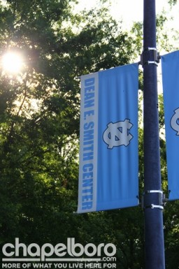 It was a beautiful afternoon for a graduation at the Dean Smith Center
