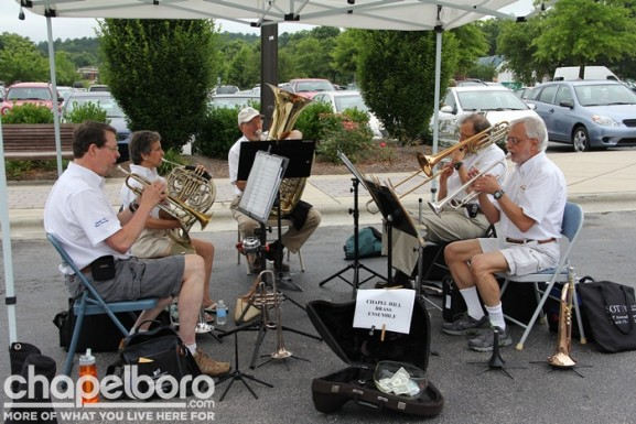 Chapel Hill Brass Ensemble was on hand to add to the fun!
