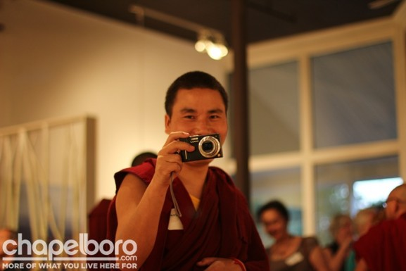 Smile! Kunsang Gyatso is ready with his camera