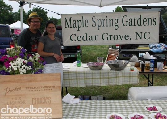 Jason Tomaszewski and Ashley Noonan with Maple Springs Gardens