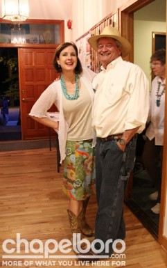 Victoria Loveland-Coen and Pete Bikas show off their fabulous taste in cowboy boots!