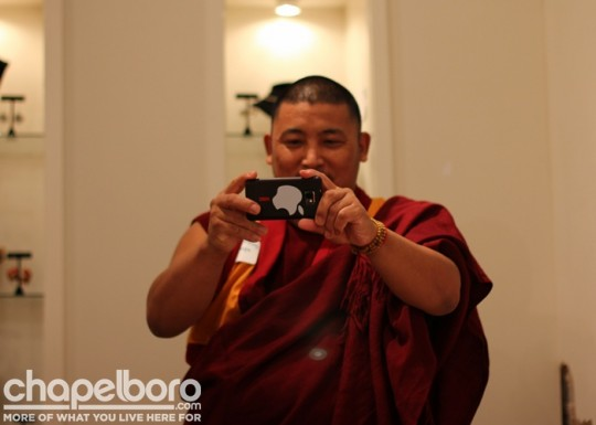 Lobsang Jampa was ready with his iphone