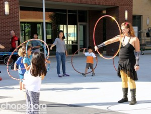 Sara Phoenix showed the kids a few new tricks with the hula hoop
