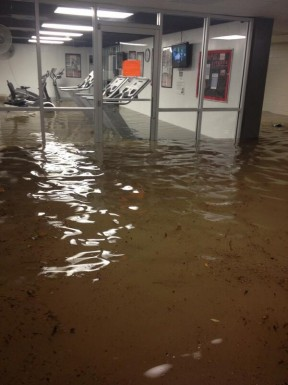 @WhitneyAdams24 - Granville workout room flooded