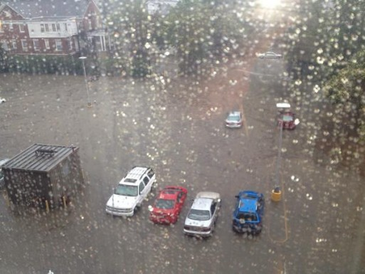 @dboyle17 - Granville Tower lot near Cameron Ave