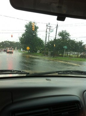 @vcshortley - Flooding on 15-501 at Ephesus Church Road