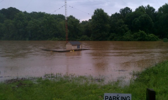 WCHL AM tower flooded