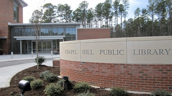 chapel hill public library sign