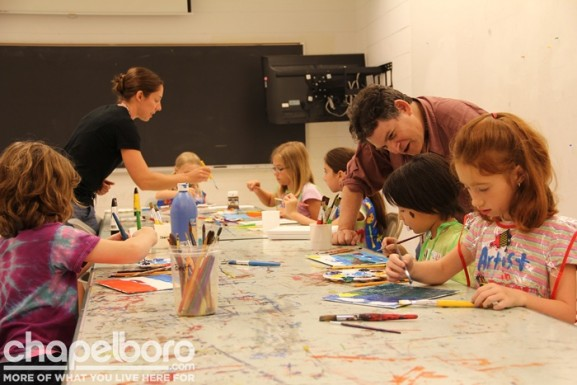 Next, the entire class moved to Hanes Art Building to create their own landscapes!