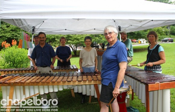 The Ubuntu Marimba Ensemble was on hand to play at the Visitor's Center