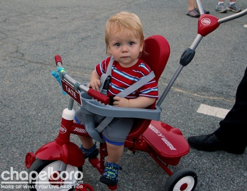 Tate Samuel was looking too cute on his Radio Flyer!