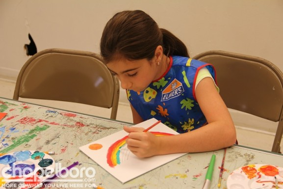 Maria was working on a beautiful rainbow
