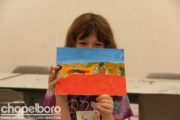 Kate and her finished desertscape