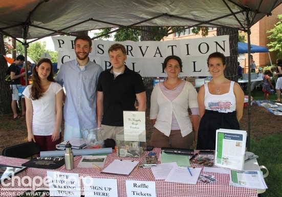 Our friends from Preservation Chapel Hill- Melissa Golding, Andrew Dinwiddie, Graham Rowland, Brenda Heindl and Katharine Newton