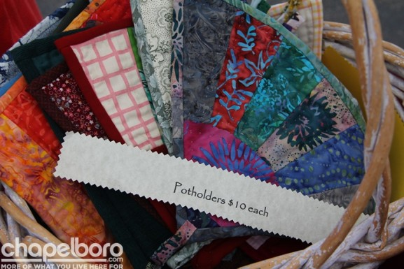 Beautiful potholders by Mary Rocap of Gather Creek