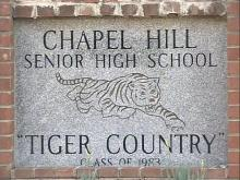 Chapel Hill High school sign
