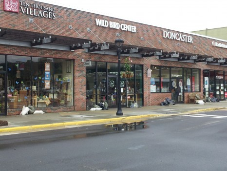Eastgate sandbags - photo by Elizabeth Friend