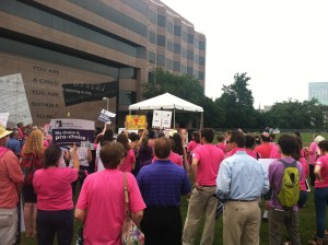 rally against HB 695