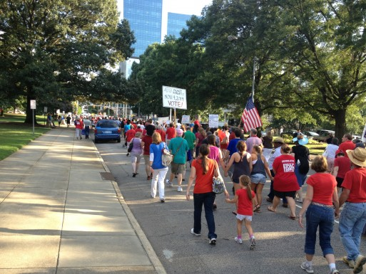 Moral Monday March; Photo by Rachel Nash