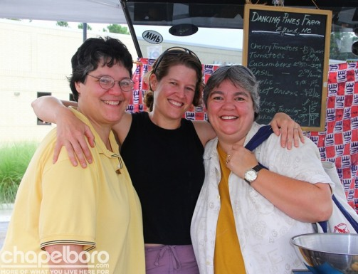Roberta Guarino, Joanna Lelekacs and Amy Gaskill with Dancing Pines Farm