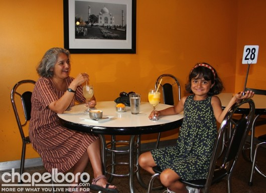 Snehalata Vasant and Asha Varnti decided to dine inside!