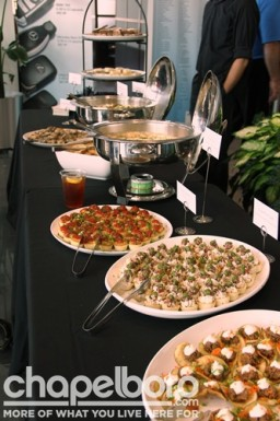 Some of the delicious food provided by The Chapel Hill Restaurant Group