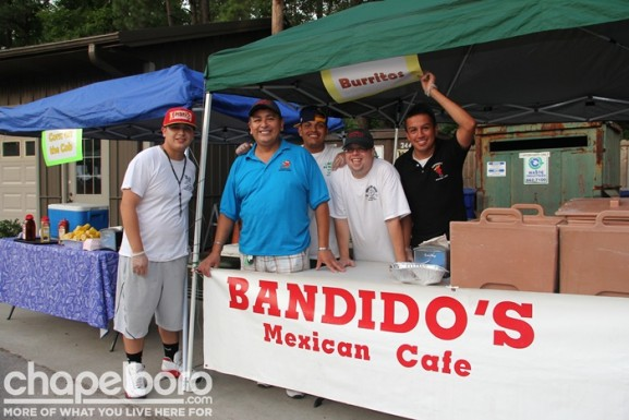 The hardest-working guys from Bandidio's-Tony Sustaita Jr, owner Tony Sustaita, Christian Lopez, Mark Chiodini, Sergio Bautista