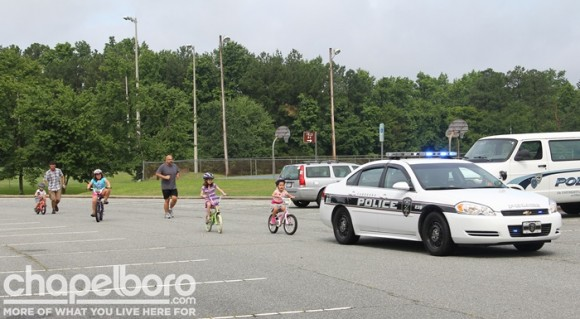 The kids even took a bike tour with Officer Joey Glenn leading the way!