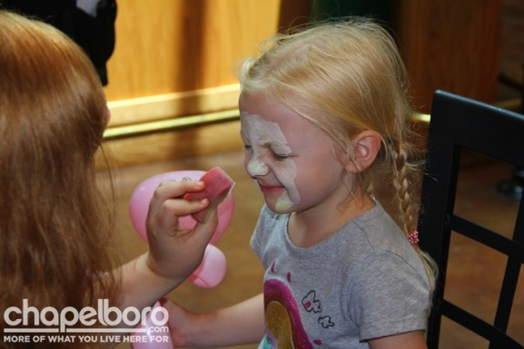 Willow Joyce is slightly ticklish when it comes to getting her face painted!